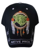 Native Pride Embroidered Baseball Cap - Turtle in Dream Catcher
