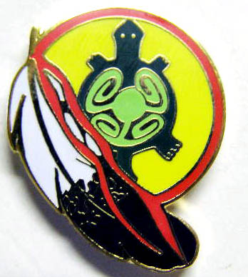 Native American Turtle Hat Pin