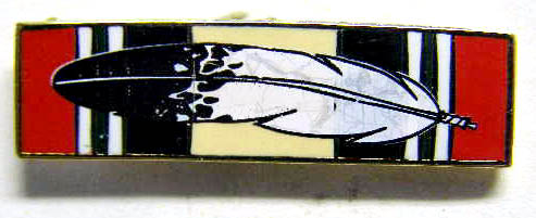 Iraq Campaign Ribbon with Eagle Feather Pin