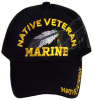 Native Veteran Marine Cap with Feather