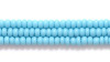 Czech Seed Bead Opaque Turquoise Blue 11/0